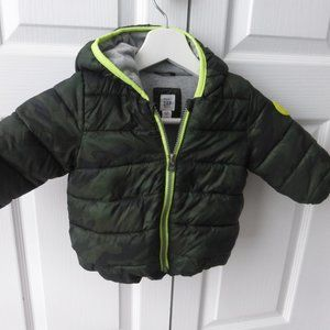Baby Gap Camo Puffer Jacket - Green